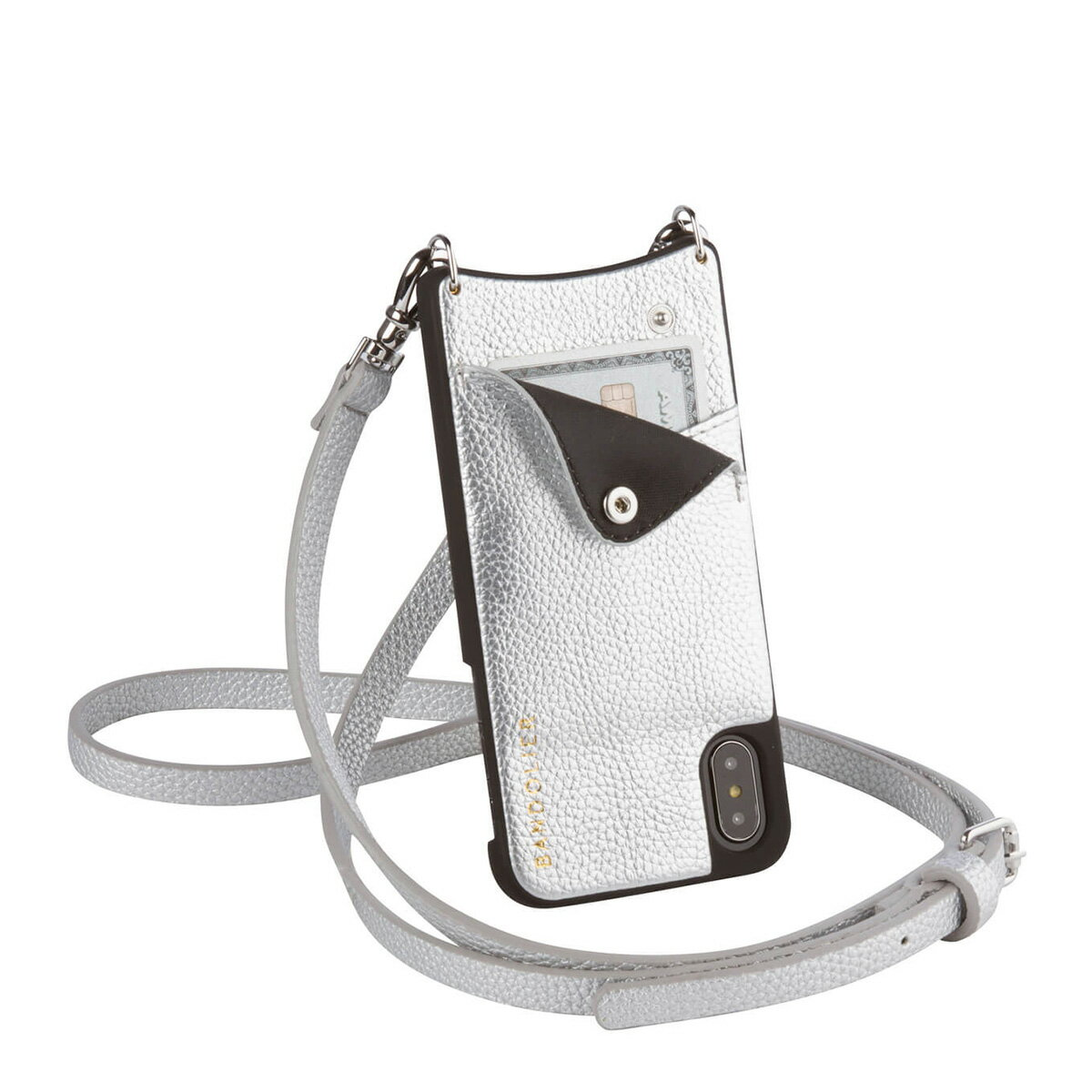 BANDOLIER iPhoneXS X EMMA RICH SILVER バンドリヤー ケース スマホ アイフォン メンズ レディース [193]