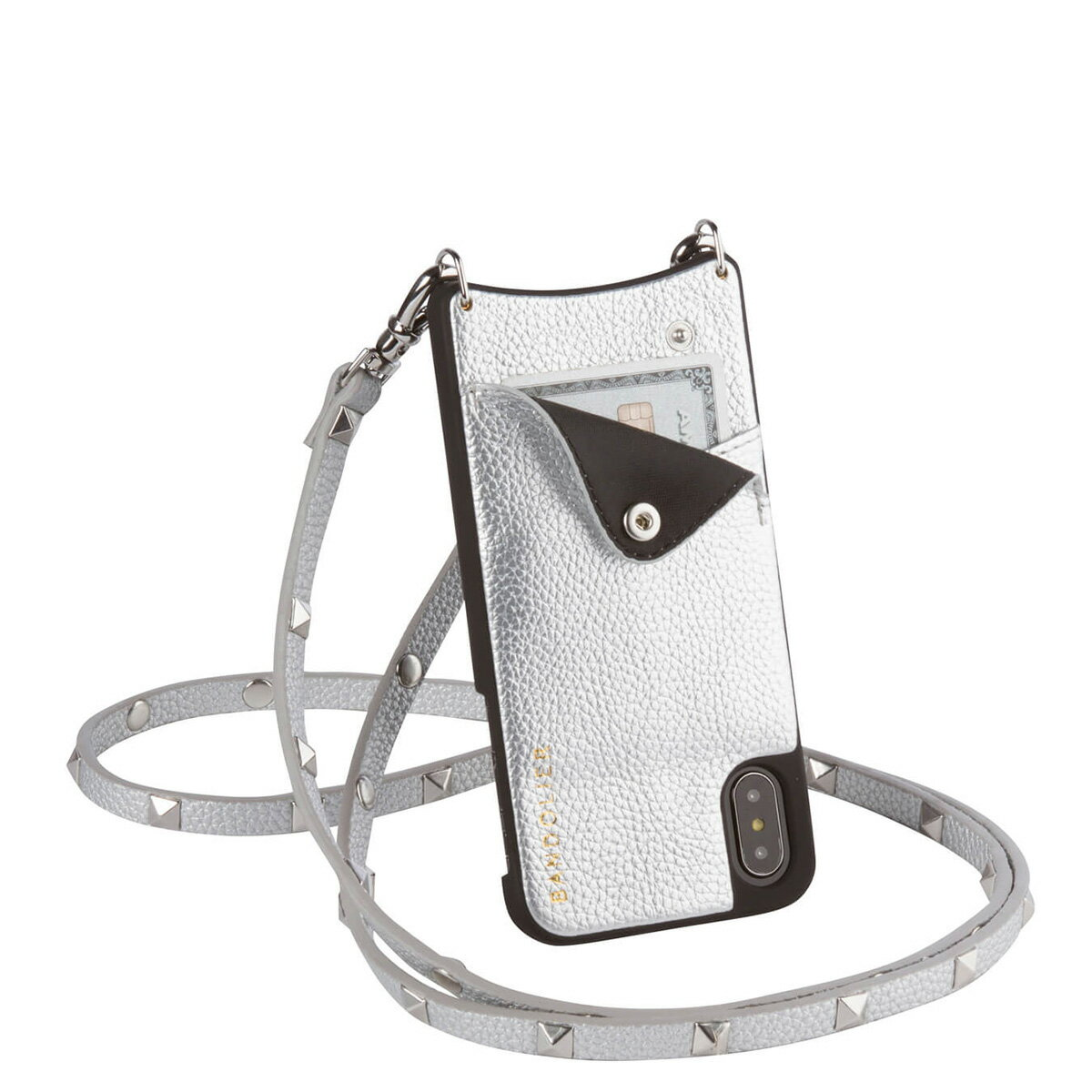 BANDOLIER SARAH RICH SILVER バンドリヤー iPhoneXS X ケース スマホ アイフォン メンズ レディース[192]