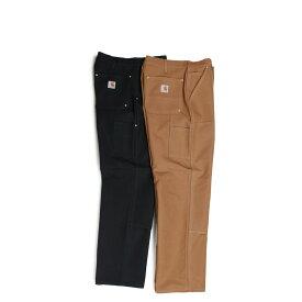 carhartt FIRM DUCK DOUBLE-FRONT WORK DUNGAREE カーハート パンツ ワークパンツ ペインターパンツ メンズ ブラック ブラウン B01 [191]
