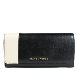 6489a9be608e MARC JACOBS SAFFIANO METAL LETTERS FLAP CONTINENTAL マークジェイコブス 財布 長財布 レディース  レザー ブラック M0013590