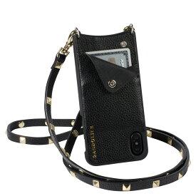 BANDOLIER SARAH GOLD バンドリヤー iPhone XS MAX ケース ショルダー スマホ アイフォン レザー メンズ レディース ブラック 10SAR1001 [192]