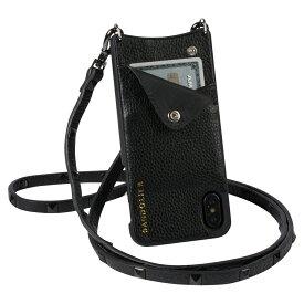 BANDOLIER iPhone XS MAX SARAH BLACK バンドリヤー ケース ショルダー スマホ アイフォン レザー メンズ レディース ブラック 10SAR1001[194]