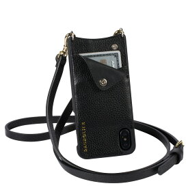 BANDOLIER iPhone XS MAX EMMA GOLD バンドリヤー ケース ショルダー スマホ アイフォン レザー メンズ レディース ブラック 10EMM1001[194]
