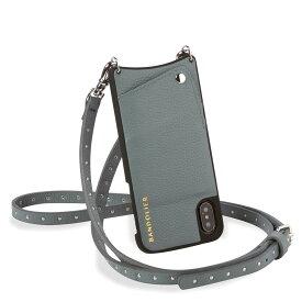 BANDOLIER iPhone XR NICOLE STORM バンドリヤー ケース スマホ アイフォン レザー メンズ レディース ブルーグレー 10NIC [195]