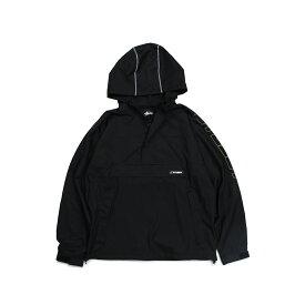 STUSSY ALPINE PULLOVER ステューシー ジャケット プルオーバージャケット メンズ ブラック 黒 115419 [196]
