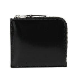 COMME des GARCONS MIRROR INSIDE COIN CASE コムデギャルソン 財布 小銭入れ コインケース メンズ レディース L字ファスナー 本革 ブラック 黒 SA3100MI