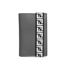 FENDI CARD CASE フェンディ カードケース パスケース 名刺入れ メンズ グレー 7M0265 A8VC [12/5 新入荷]
