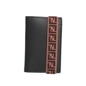 FENDI CARD CASE フェンディ カードケース パスケース 名刺入れ メンズ ブラック 黒 7M0265 A8VC [12/5 新入荷]