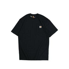 carhartt WORKER POCKET S/S T-SHIRTS カーハート Tシャツ 半袖 メンズ コットン ブラック ホワイト グレー ネイビー ベージュ 黒 K87
