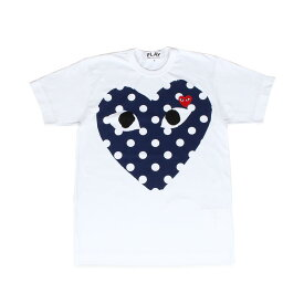 PLAY COMME des GARCONS POLKA DOT HEART プレイ コムデギャルソン Tシャツ 半袖 メンズ ホワイト 白 T2340511