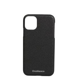 Orobianco PU LEATHER BACK CASE オロビアンコ iPhone11 ケース スマホ 携帯 アイフォン メンズ レディース サフィアーノ調 ブラック ネイビー カーキ レッド 黒