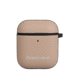 Orobianco PU LEATHER AIRPODS CASE オロビアンコ AirPods 2 ケース カバー iPhone アイフォン エアーポッズ メンズ レディース シュリンク ブラック ネイビー グレージュ レッド 黒
