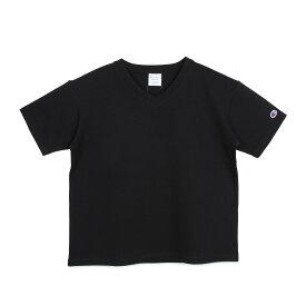 Champion V NECK T-SHIRT チャンピオン Tシャツ 半袖 レディース ブラック ホワイト グレー ブラウン 黒 白 CW-M323