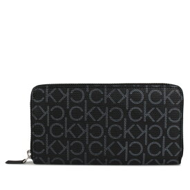 Calvin Klein LOGO ZIP AROUND WALLET カルバンクライン 財布 長財布 メンズ ラウンドファスナー レザー モノグラム ブラック 黒 79468