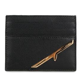 FENDI CARD CASE フェンディ パスケース カードケース ID 定期入れ メンズ レディース イタリア製 ブラック 黒 7M0164AC92 [9月 新入荷]