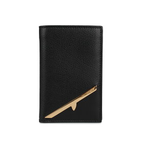 FENDI CARD CASE フェンディ パスケース カードケース ID 定期入れ メンズ レディース イタリア製 ブラック 黒 7M0262AC92 [9月 新入荷]