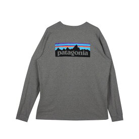 【最大600円クーポン】 patagonia P-6 LOGO RESPONSIBILI TEE パタゴニア Tシャツ 長袖 ロンT カットソー レスポンシビリティー メンズ ブラック ホワイト グレー 黒 白 38518