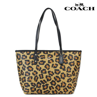 Coach COACH Womens Tote Bag F36883 neutral Ocelot print City ZIP Tote