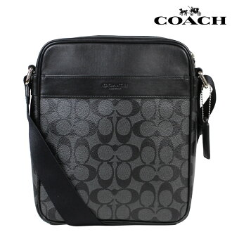 COACH coach men bag shoulder bag F54788 charcoal X black