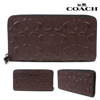 Coach long wallet men COACH wallet F58113 mahogany [1/17 Shinnyu load]