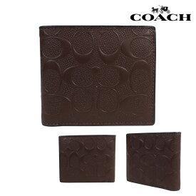 COACH コーチ メンズ 財布 二つ折り財布 IDケース F75371 マホガニー