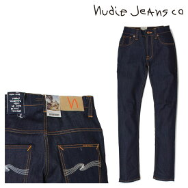nudie jeans ヌーディージーンズ THIN FINN スキニー メンズ デニム パンツ DRY ECRU EMBO ブルー