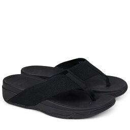 FitFlop合身FLOP衝浪運動員涼鞋女士SURFA TOE POST SANDALS黑色H84[192]