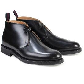 【訳あり】 【BOX破損】 SANDERS DUBLIN サンダース ブーツ メンズ Fワイズ ブラック 黒 8533B 【返品不可】