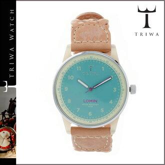 [賣出] 三 TRIWA 手錶 AQUA LOAC110 AQUA LOMIN 特恩舍皮革 Aqua 男人女人