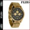 點 10 倍洪水手錶火電廠手錶手錶金黑色 ORD015 訂單手錶男裝女裝