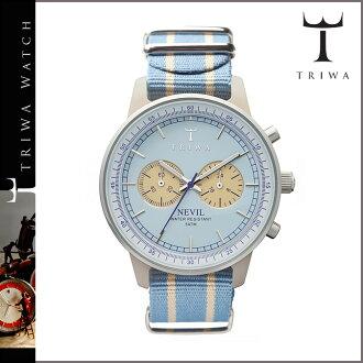 [卖出] 三 TRIWA 手表 [浅蓝色] NEAC115 雪花石膏薰衣草内维尔男人女人