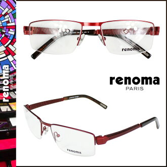 Renoma renoma glasses [Red] metal frame mens Womens unisex eyewear business [regular]