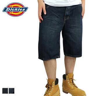 點 2 x 短褲男裝 Dickies,Dickies Dickies DR211 11 英寸的牛仔短褲工作短褲靛藍藍色寬鬆的配合 [定期]