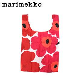 marimekko マリメッコ バッグ エコバッグ トートバッグ 花柄 040470 ホワイト レッド SMART BAG PIENI UNIKKO レディース