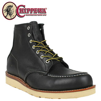 Chippewa CHIPPEWA boots 25061 6 BLACK MOCC RETRO BOOTS E wise leather men's
