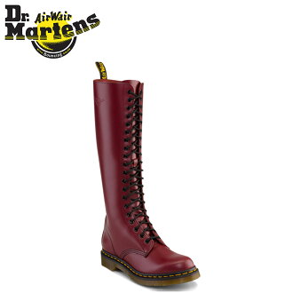 Dr. Martens Dr.Martens 20 hole boots R12270600 1B60 smooth Leather Womens mens