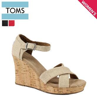 湯姆斯鞋湯姆斯鞋婦女楔形涼鞋婦女絆帶楔帶棉花湯姆斯湯姆斯鞋新 024131B 錫耶納楔鞋底 [定期]