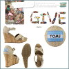 TOMS SHOES Toms shoes women's wedge Sandals WOMEN's STRAPPY WEDGES strap cotton Toms Toms shoes new 024131B Siena wedge sole [regular]