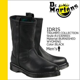 马滕斯 Dr.Martens 工程师靴 R15309001 伊德里斯博士皮革男式工程师靴