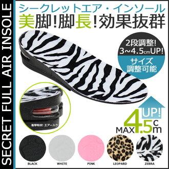 5 點 x 秘密全空氣鞋墊 2way 5 顏色 2 階段控制鞋墊網毛皮女人男人秘密全空氣鞋墊