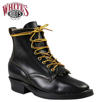Whites boots WHITE's BOOTS 6 inch bounty hunter [Black] 350 WB 6inch BOUNTY HUNTER E wise BLACK CHROME EXCEL men's [regular]