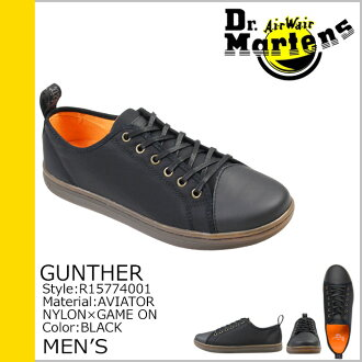 Dr. Martens Dr.Martens Gunther racing shoes GUNTHER LACE TO TOE SHOE nylon x leather men's casual shoes R15774001 black [regular]