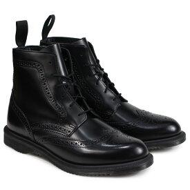 Dr.Martens DELPHINE 8EYE BROGUE BOOT ドクターマーチン 6ホール ブーツ レディース メンズ ブラック R22650001 [9/13 追加入荷] [199]