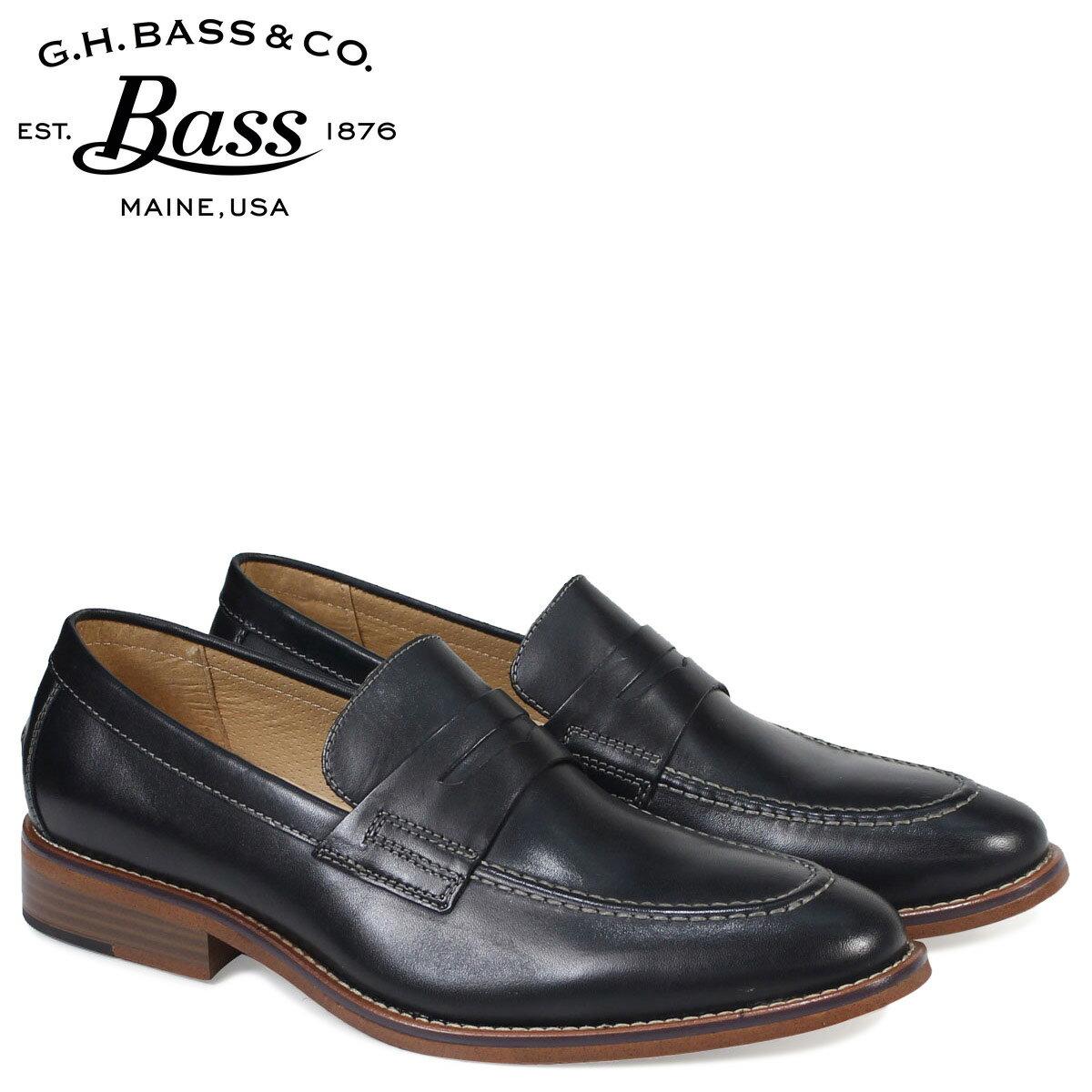 ジーエイチバス ローファー G.H. BASS メンズ CONNER PENNY LOAFER 70-10114 靴 ブラック[179]