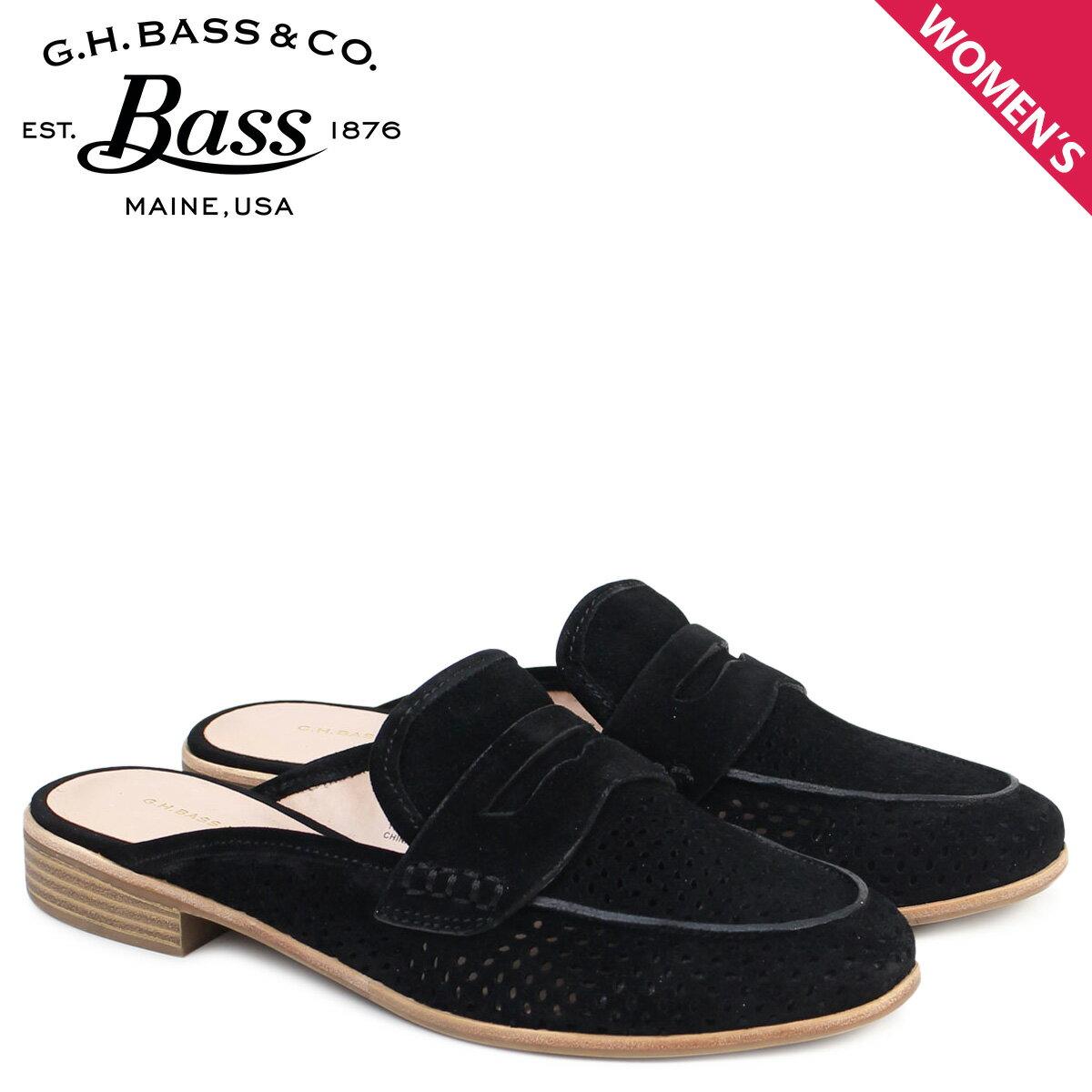 ジーエイチバス ローファー G.H. BASS レディース サンダル スリッパ バブーシュ ERIN MULE 71-21385 靴 ブラック [176]