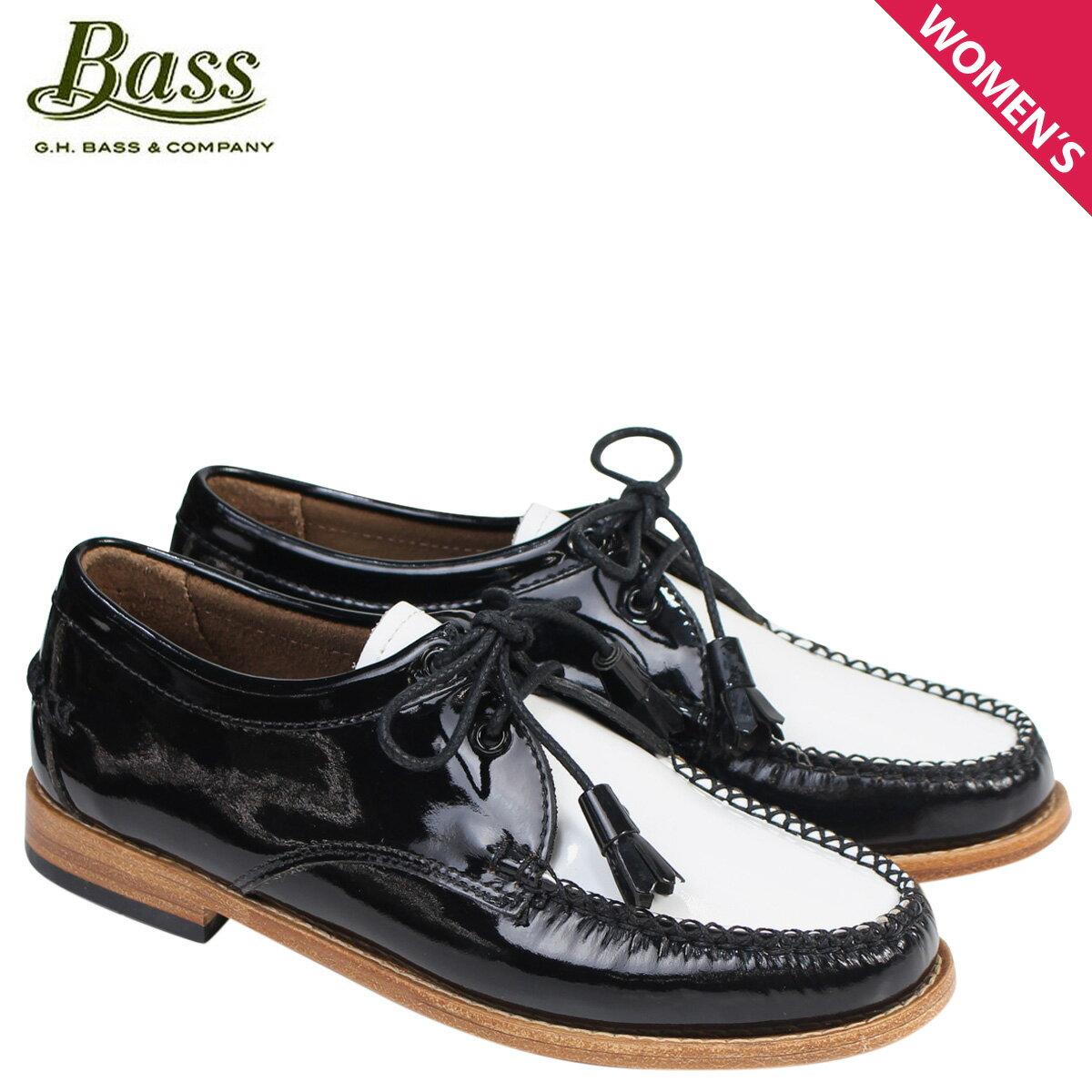 ジーエイチバス ローファー G.H. BASS レディース タッセル WINNIE TIE WEEJUNS 71-22465 靴 ブラック ホワイト [177]