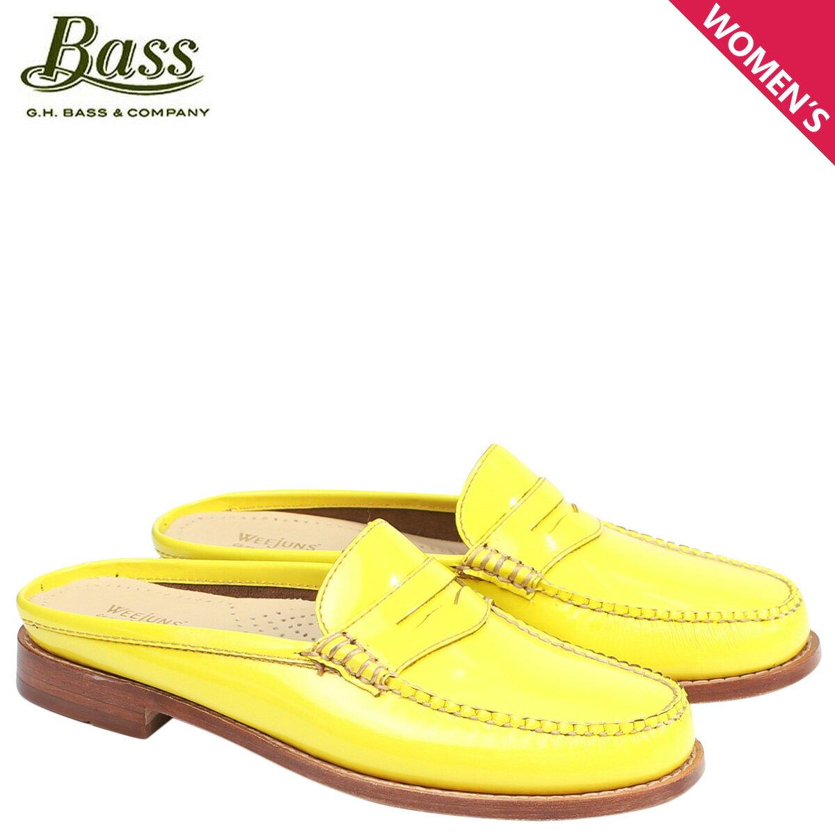 ジーエイチバス ローファー G.H. BASS レディース サンダル スリッパ バブーシュ WYNN PATENT LEATHER MULE WEEJUNS 71-22853 靴 イエロー [176]