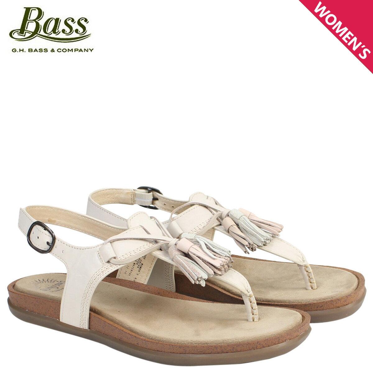 ジーエイチバス サンダル レディース G.H. BASS トング Tストラップ SADIE T-STRAP SUNJUNS 71-23000 靴 クリーム [177]