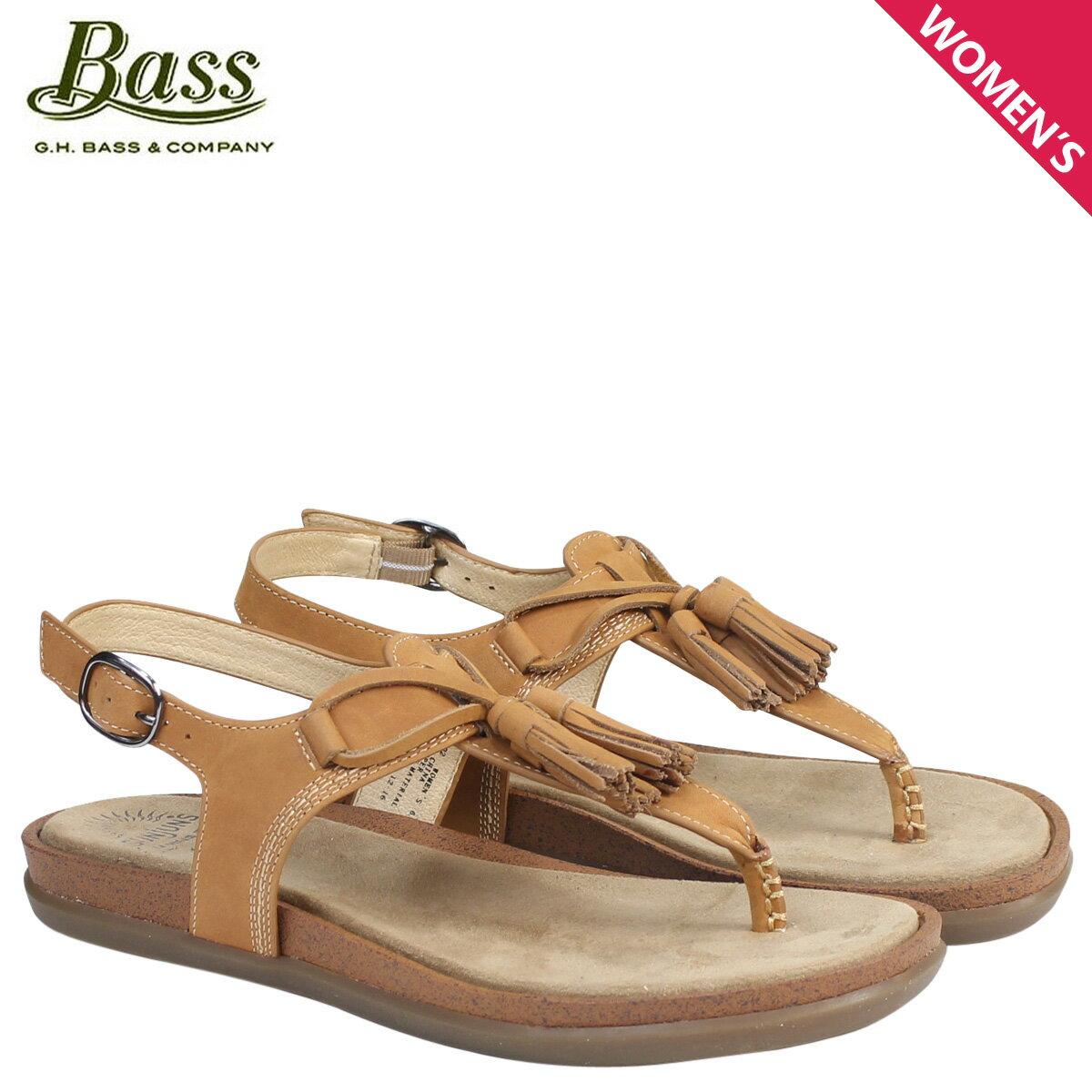 ジーエイチバス サンダル レディース G.H. BASS トングサンダル タッセル Tストラップ SADIE T-STRAP SUNJUNS 71-23002 靴 ブラウン [177]