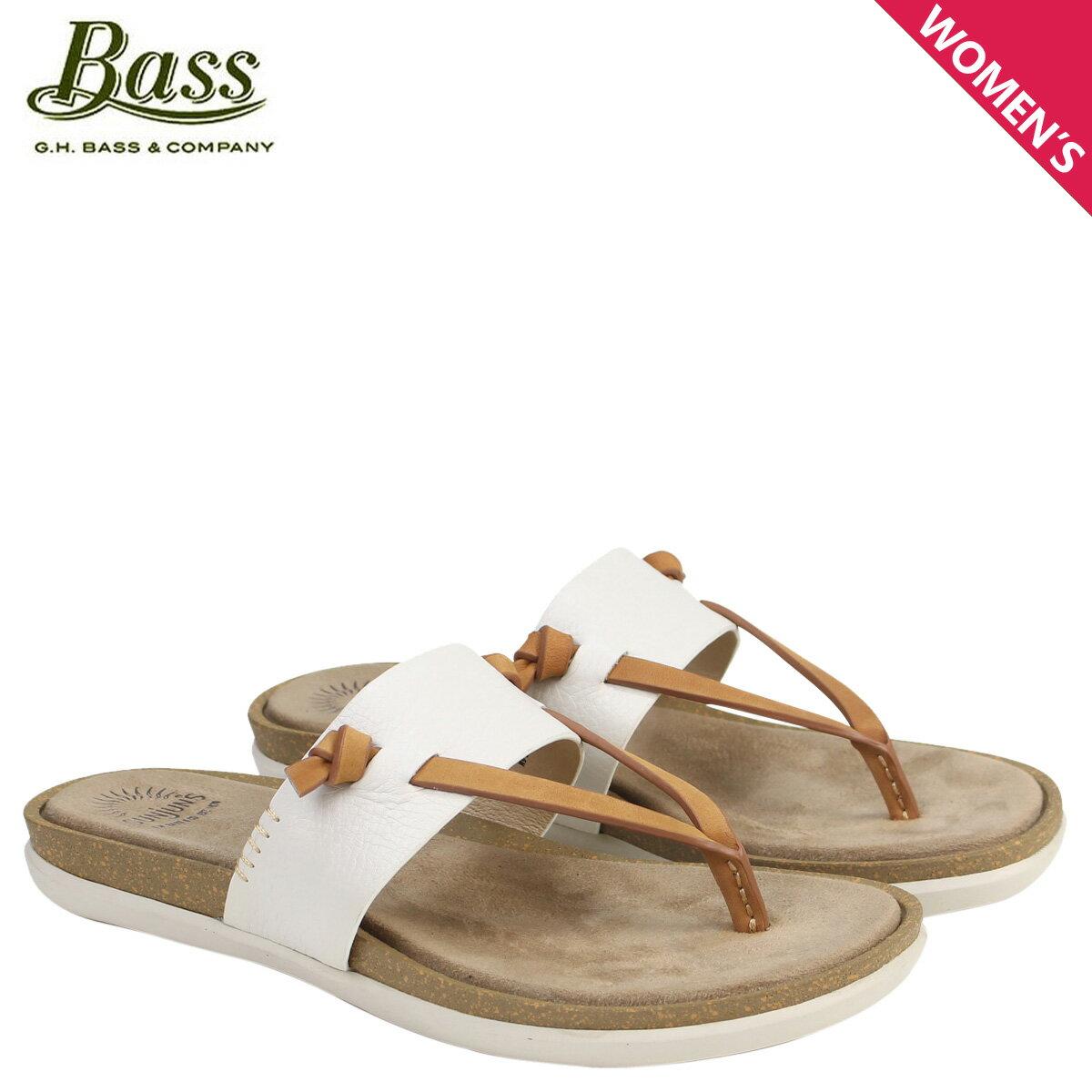 ジーエイチバス サンダル レディース G.H. BASS トング SHANNON THONG SUNJUNS 71-23010 靴 ホワイト [177]